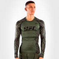 Venum UFC Authentic Fight Week Khaki Langarm-Kompressionshemd