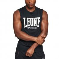 T-shirt Sleeveless Leone Logo black