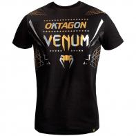 T-shirt Venum Oktagon black/gold-silver