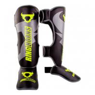 Shinguard Ringhorns Charger  Black Neo Yellow By Venum
