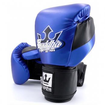Boxhandschuhe Buddha Metallic  blau / Schwarz