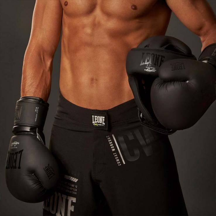 "Boxhandschuhe Leone  GN059 ""Black&White"" Schwarz"