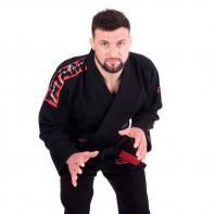 Gi Jiu Jitsu Tatami Red Bar schwarz