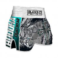 Muay Thai Short Buddha  Retro Dark Angels Kinder