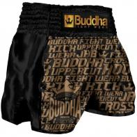 Muay Thai Short Buddha Retro Golden Kids