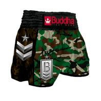 Muay Thai Short Buddha  Retro  Army Green Classic children