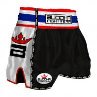 Muay Thai Short Buddha  Retro Black Kinder