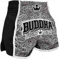 Muay Thai Short Buddha Retro Tattoo