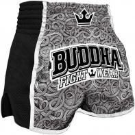 Muay Thai Short Buddha Retro Tattoo Kids