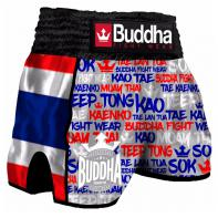 Muay Thai Short Buddha Retro Thailand