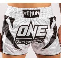 Muay Thai Short Venum X One FC white / black