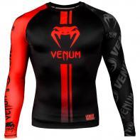 Rashguard Venum Logos l/s schwarz / rot