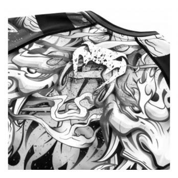 Rashguard Venum Devil White/Black  l/s
