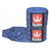 Boxbandagen Buddha Tattoo blue  4,5 m